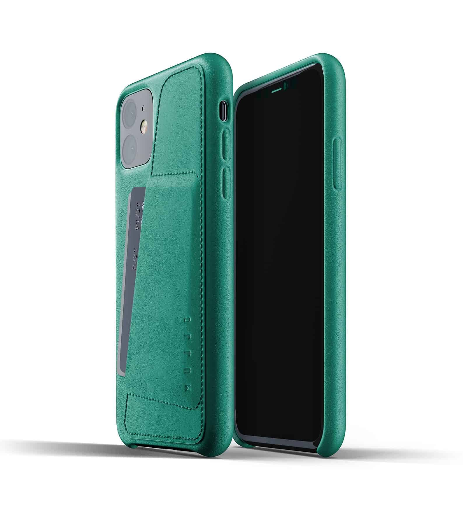 Full leather wallet case for iPhone 11 Alpine Green Thumbnail 01