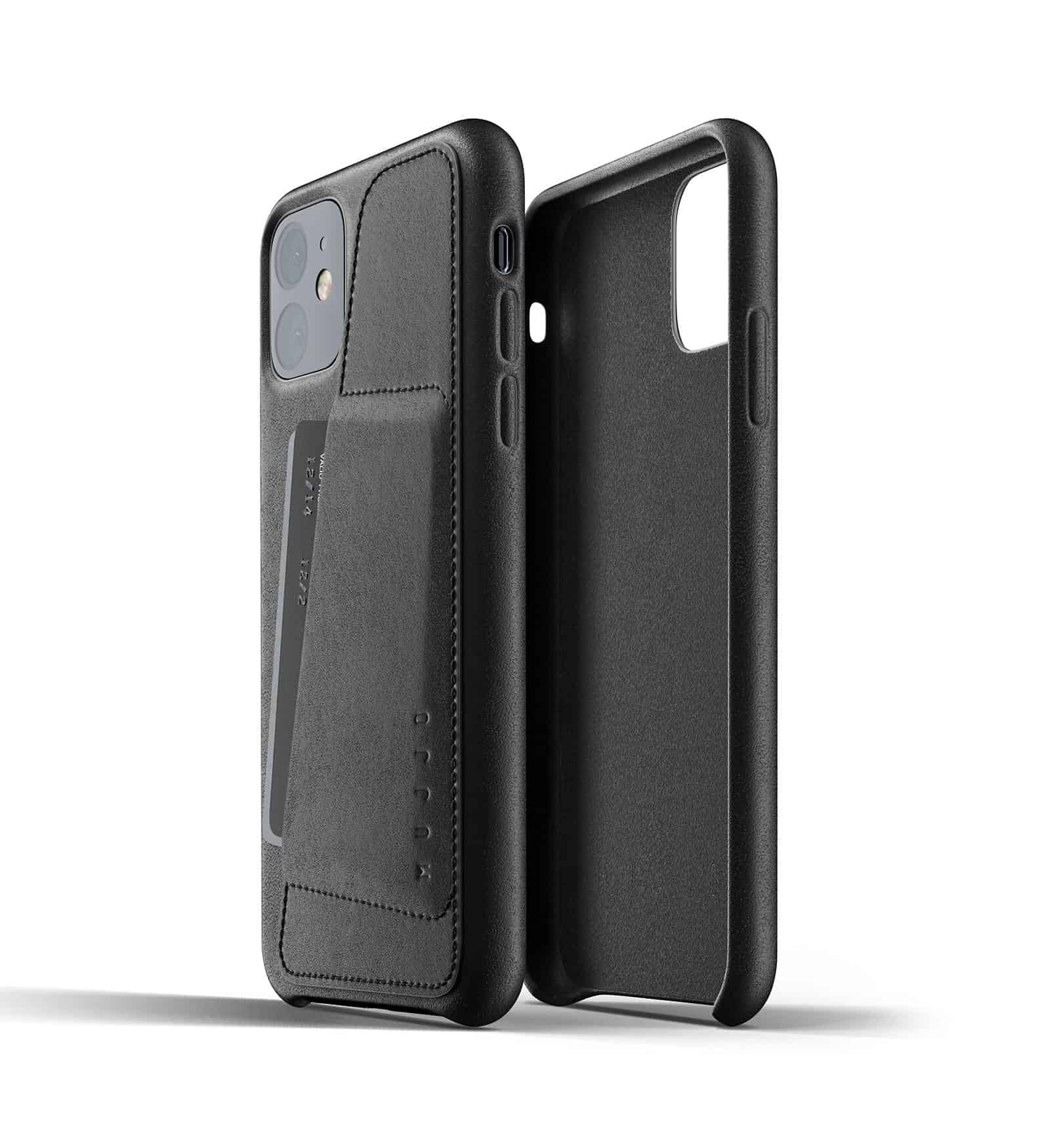 Full leather wallet case for iPhone 11 Black Thumbnail 02