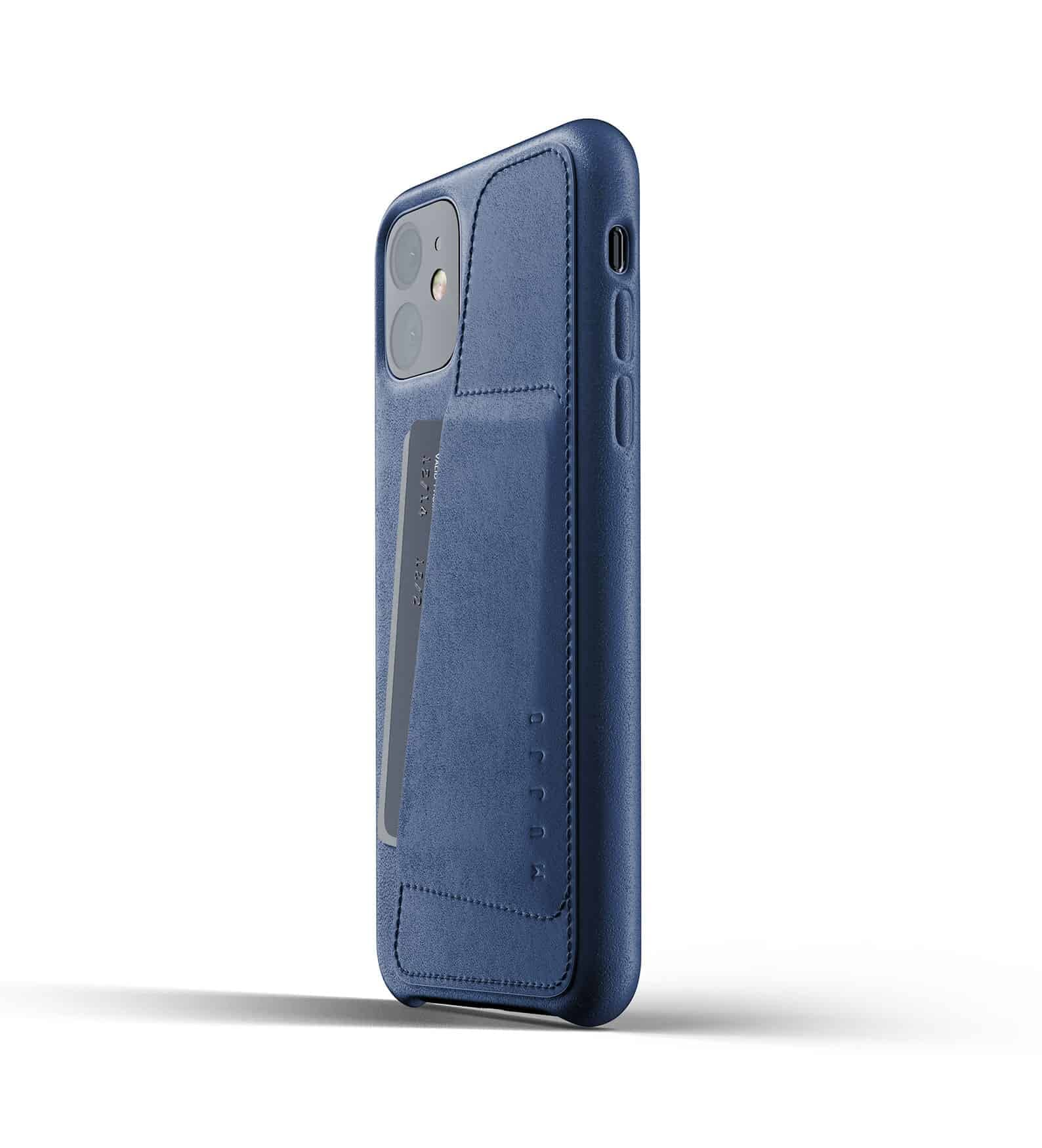 Full leather wallet case for iPhone 11 Blue Thumbnail 03