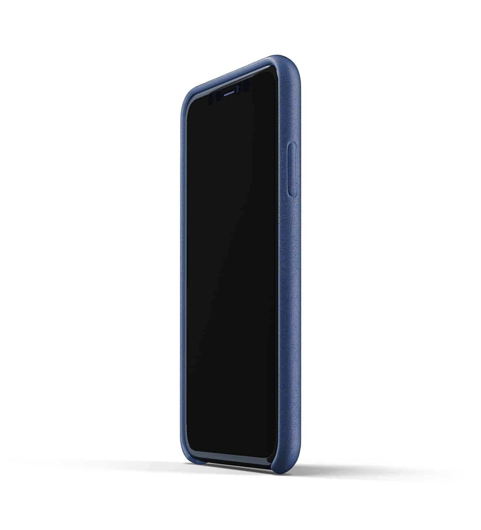 Full leather wallet case for iPhone 11 Blue Thumbnail 04