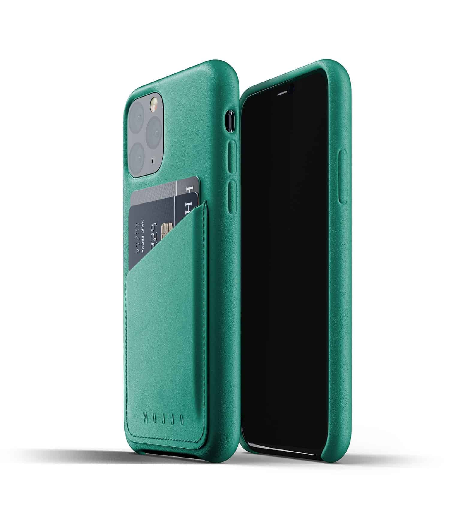 Full leather wallet case for iPhone 11 Pro Alpine Green Thumbnail 01