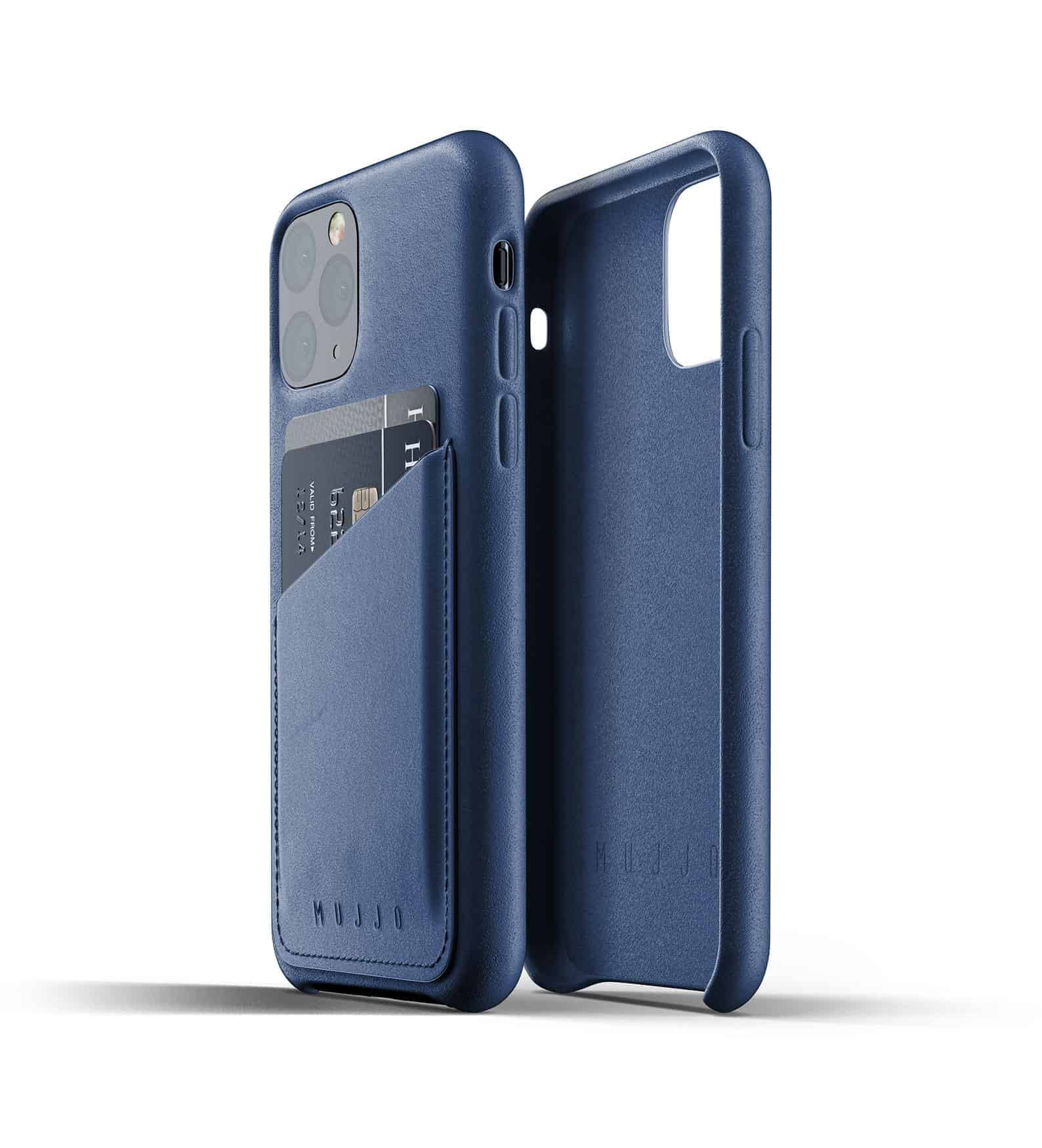 Full leather wallet case for iPhone 11 Pro Blue Thumbnail 02