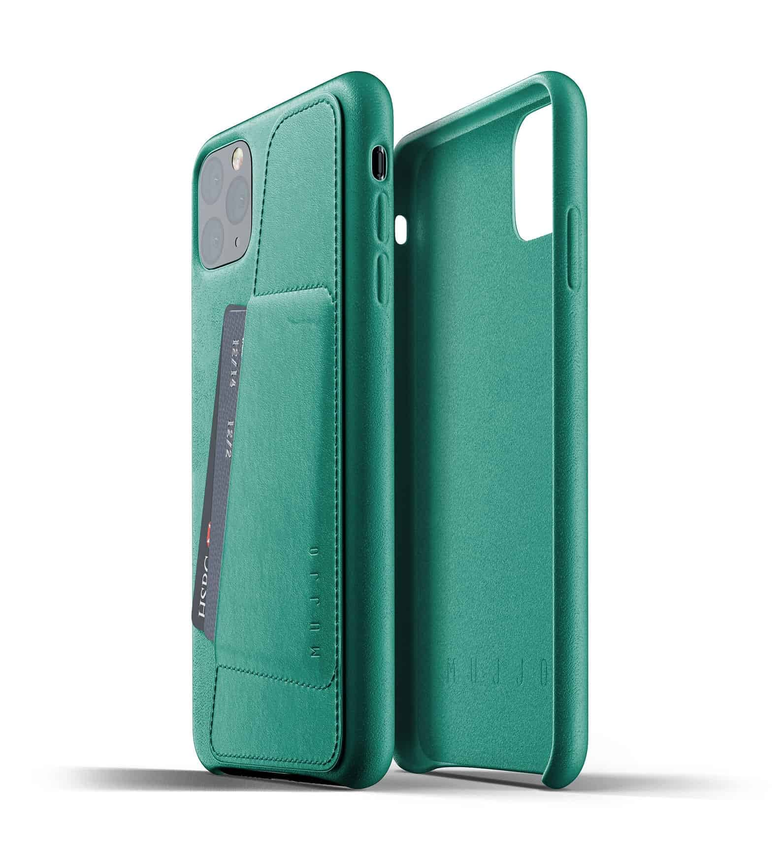 Full leather wallet case for iPhone 11 Pro Max Alpine Green Thumbnail 02