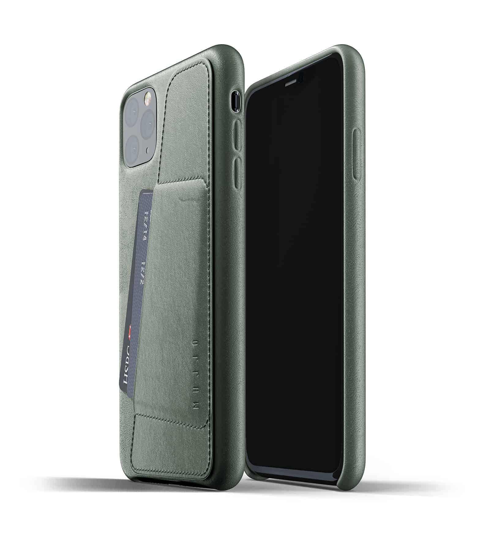 Full leather wallet case for iPhone 11 Pro Max Slate Green Thumbnail 01