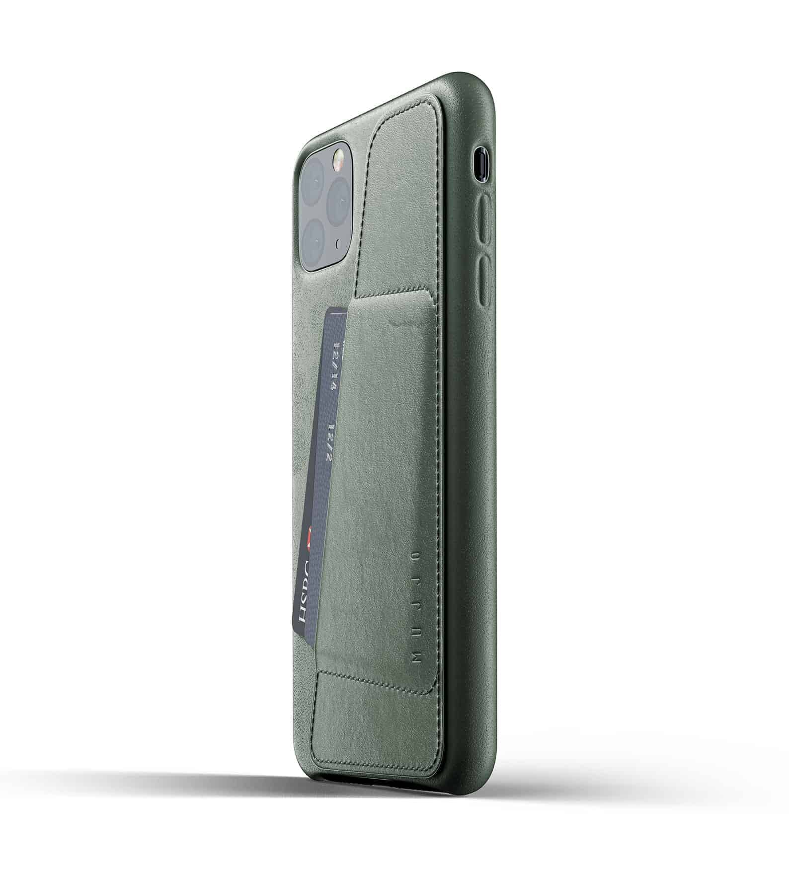 Full leather wallet case for iPhone 11 Pro Max Slate Green Thumbnail 03