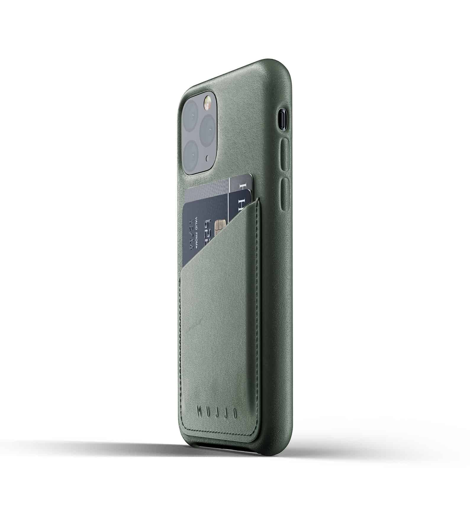 Full leather wallet case for iPhone 11 Pro Slate Green Thumbnail 03