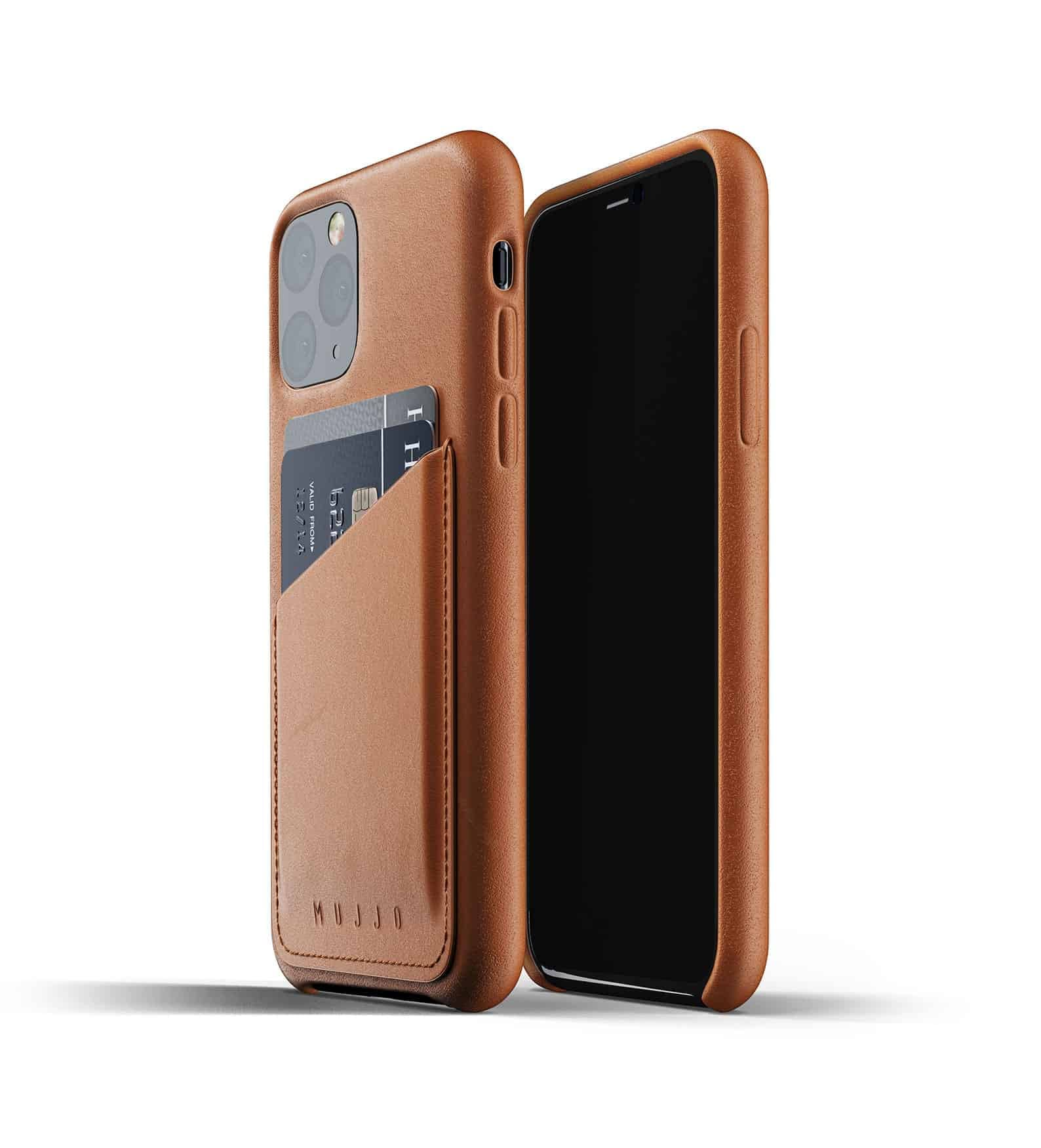 Full leather wallet case for iPhone 11 Pro Tan Thumbnail 01
