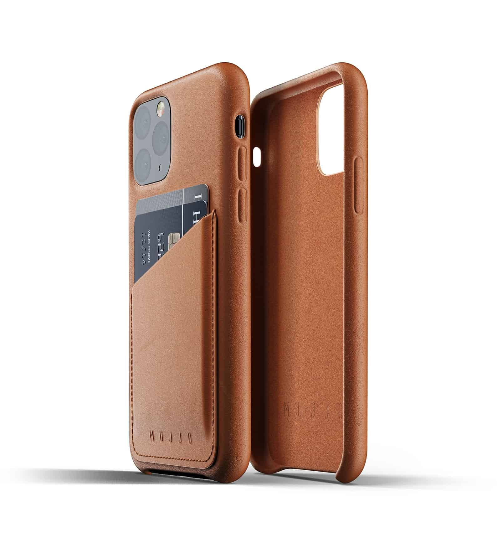 Full leather wallet case for iPhone 11 Pro Tan Thumbnail 02