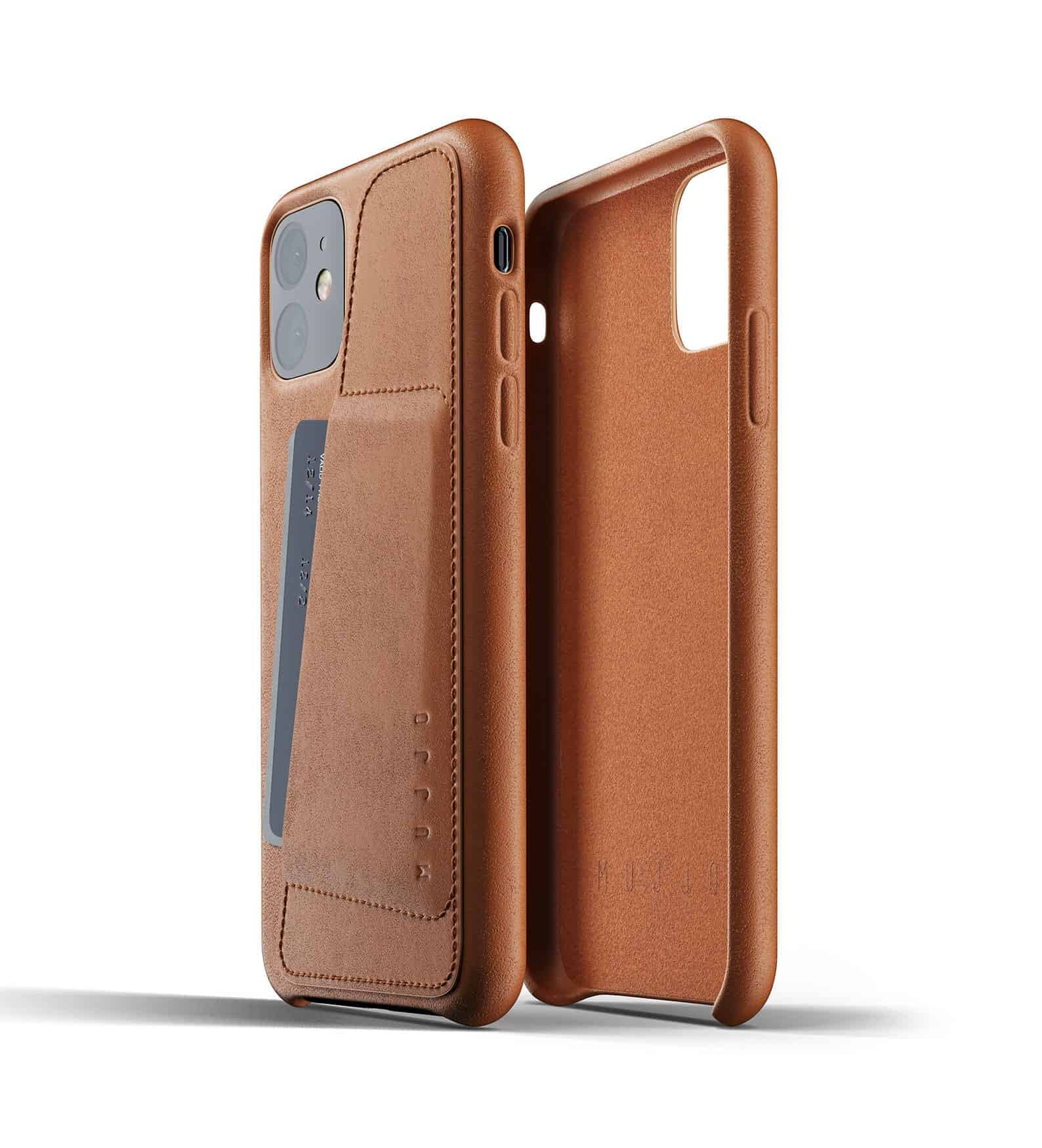Full leather wallet case for iPhone 11 Tan Thumbnail 02