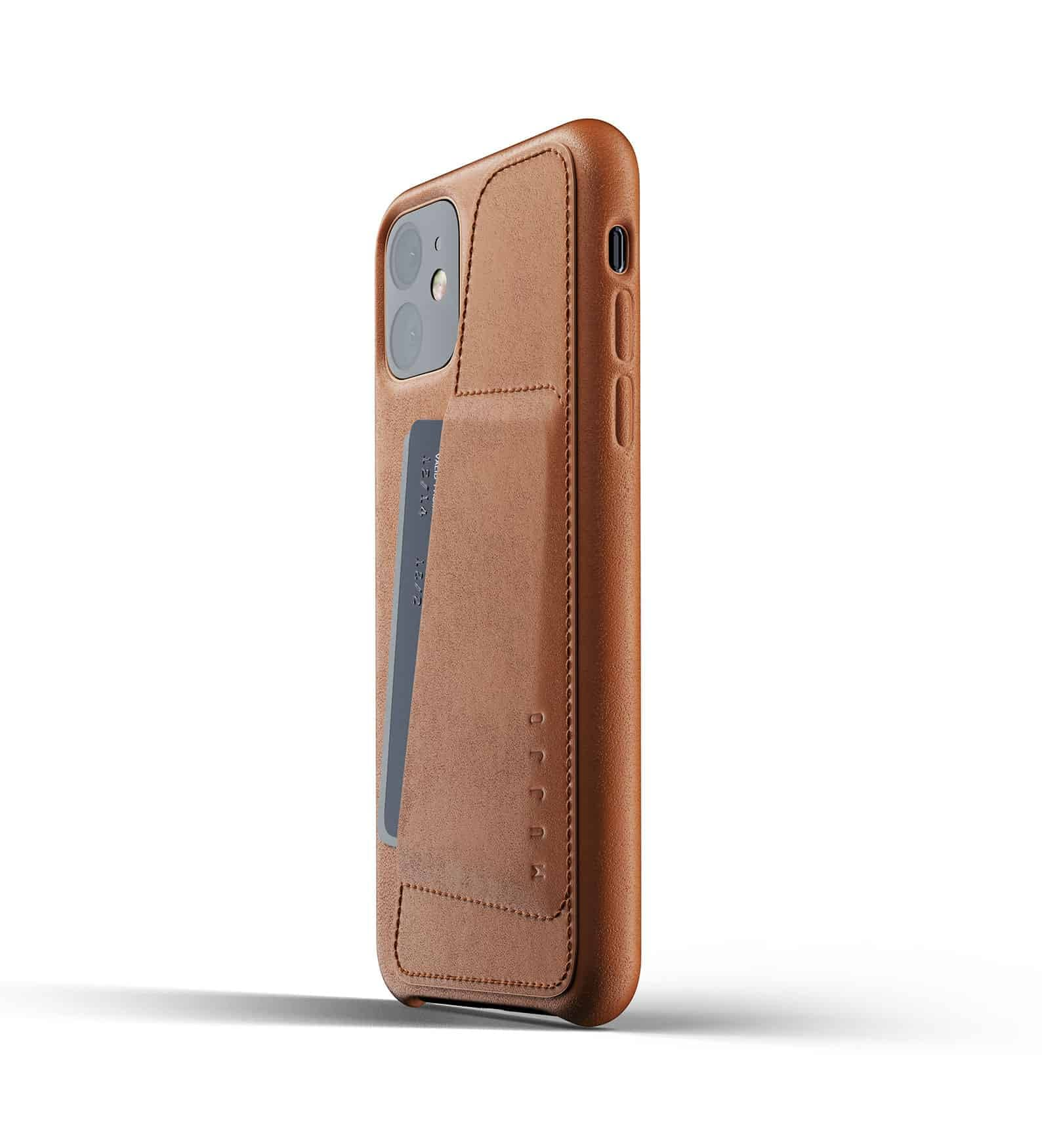 Full leather wallet case for iPhone 11 Tan Thumbnail 03