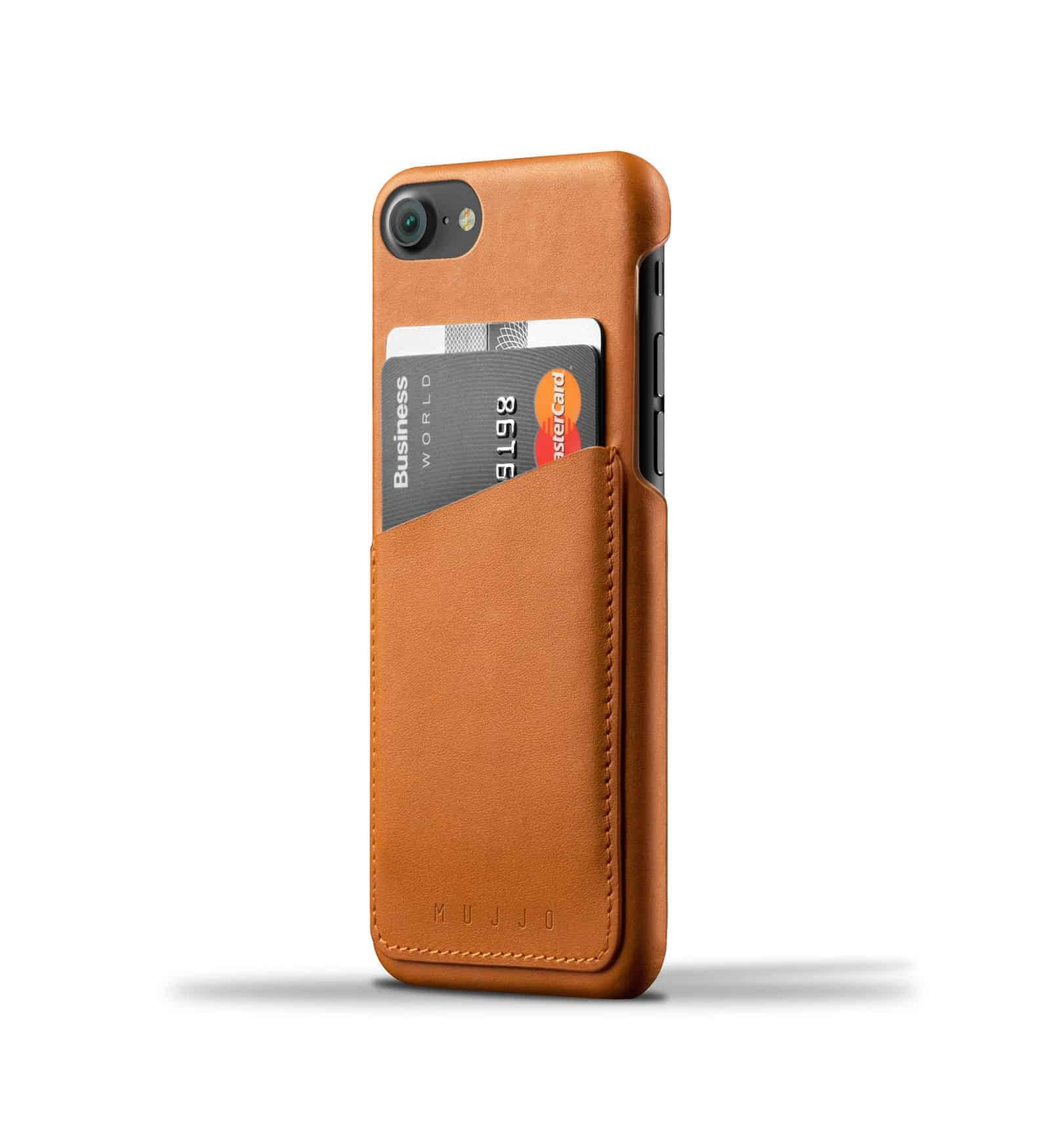 Leather Wallet Case for iPhone 8 / 7 - Tan 1