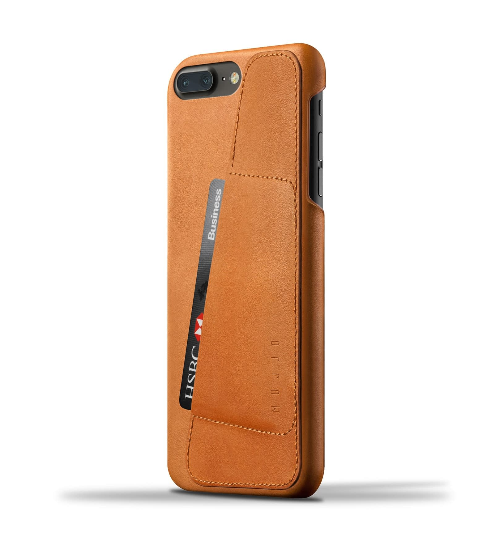 Leather Wallet Case for iPhone 8 Plus : 7 Plus Tan Thumbnail 001