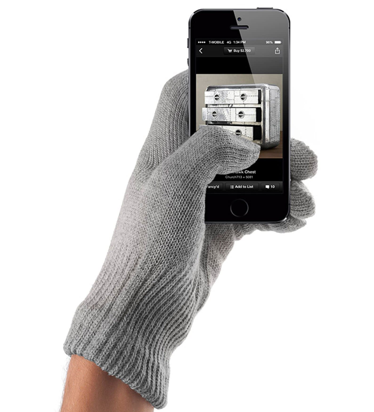 touchscreen gloves natural gray 02