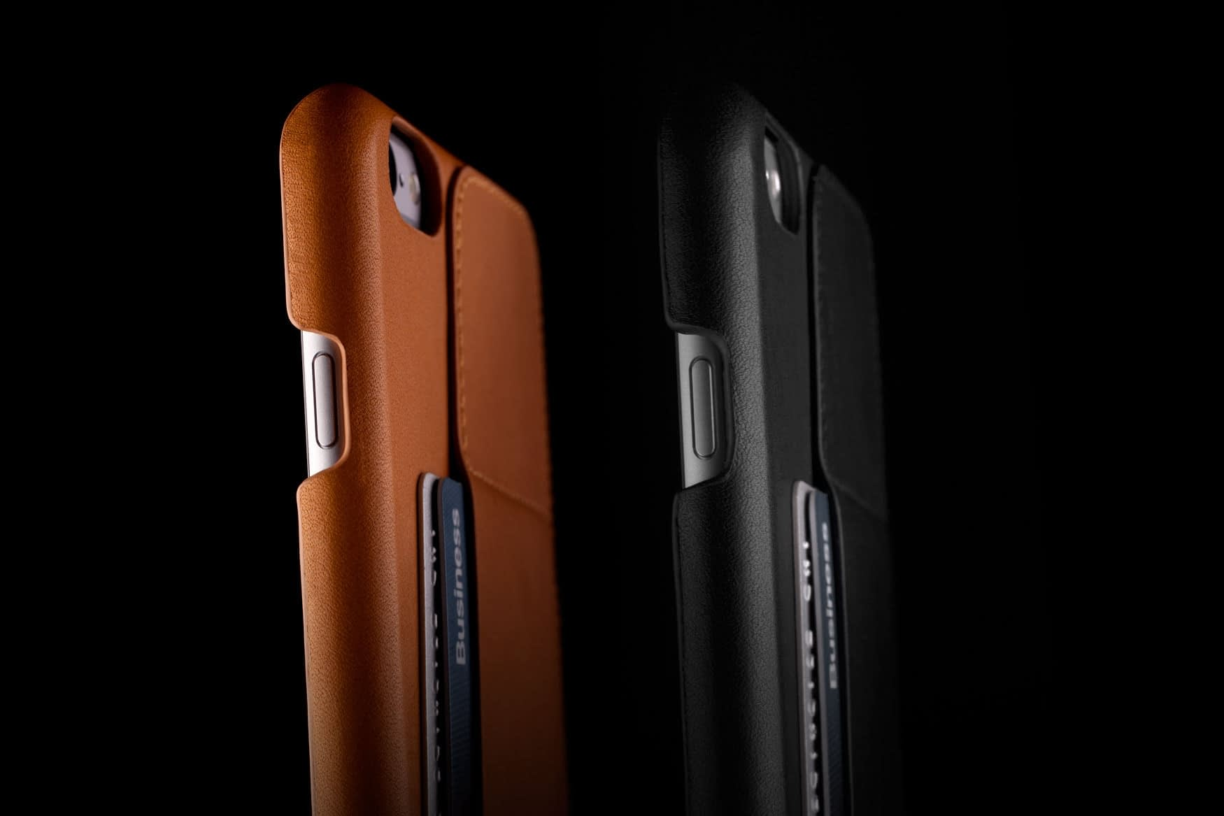 Leather Wallet Case 80° for iPhone 6 Plus Tan Lifestyle 0212