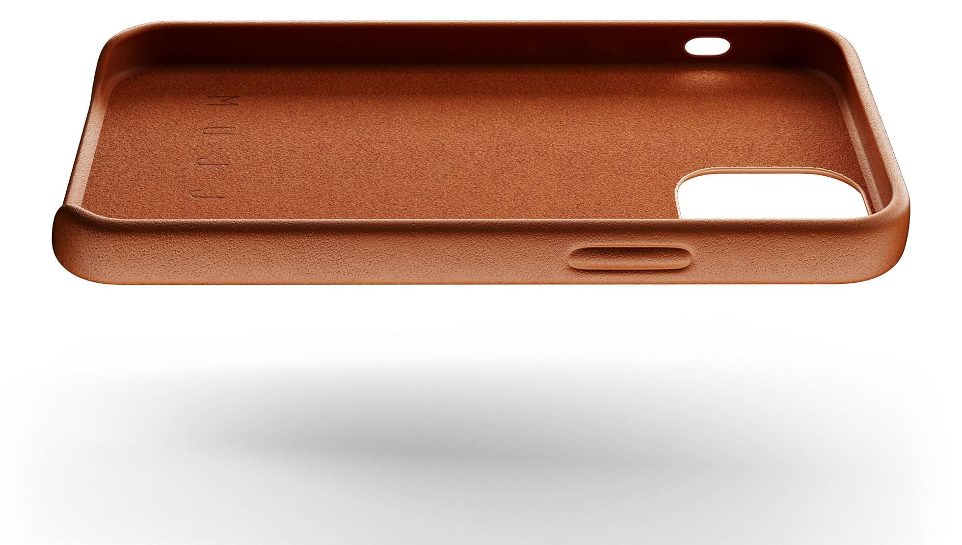 full leather case for iphone 12 mini tan 004