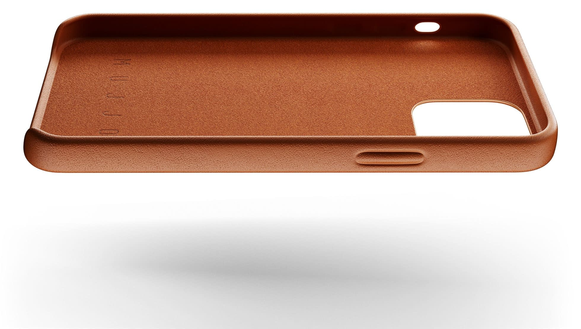 full leather case for iphone 12 tan 004