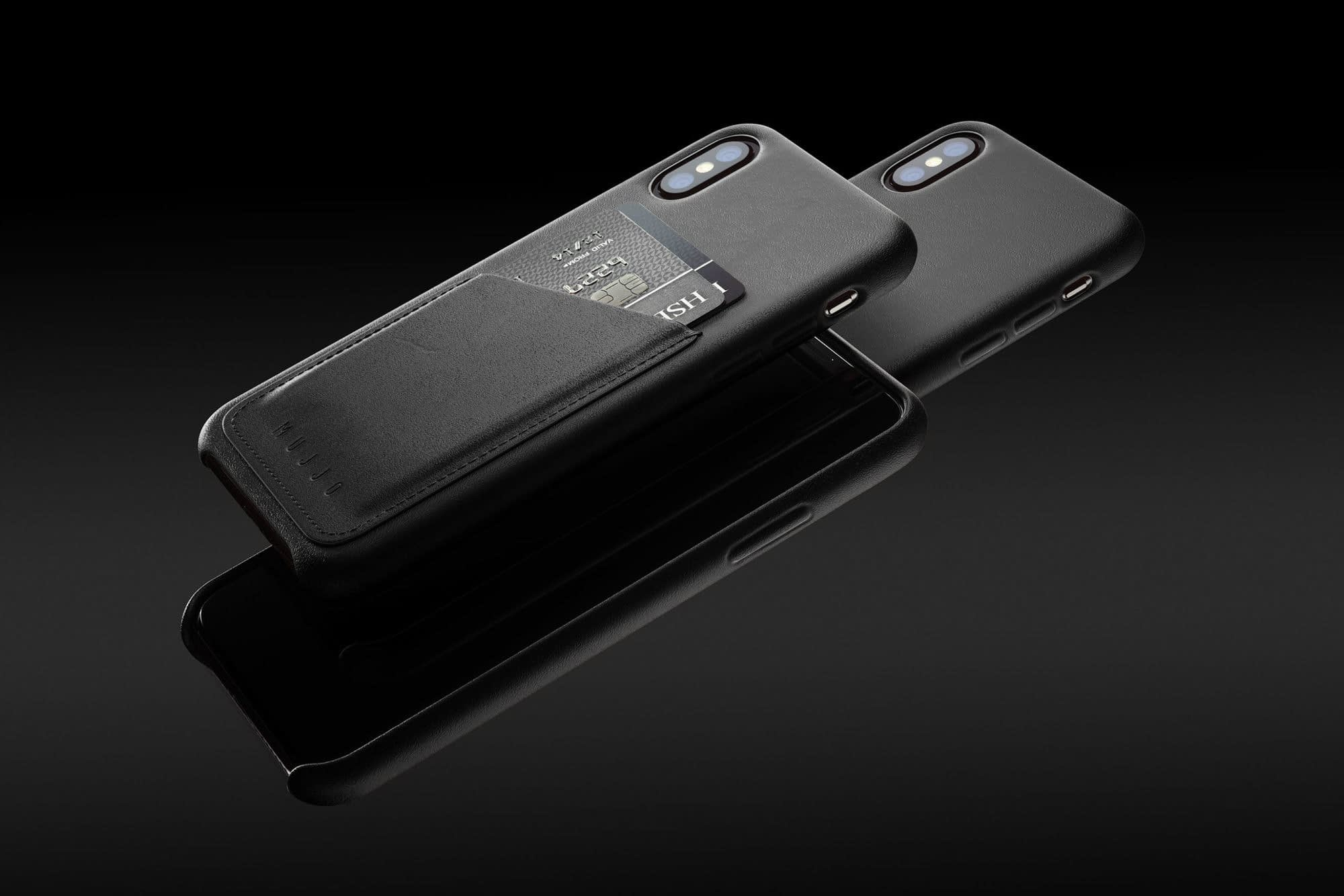 Full leather wallet case for iPhone Xs Black 01