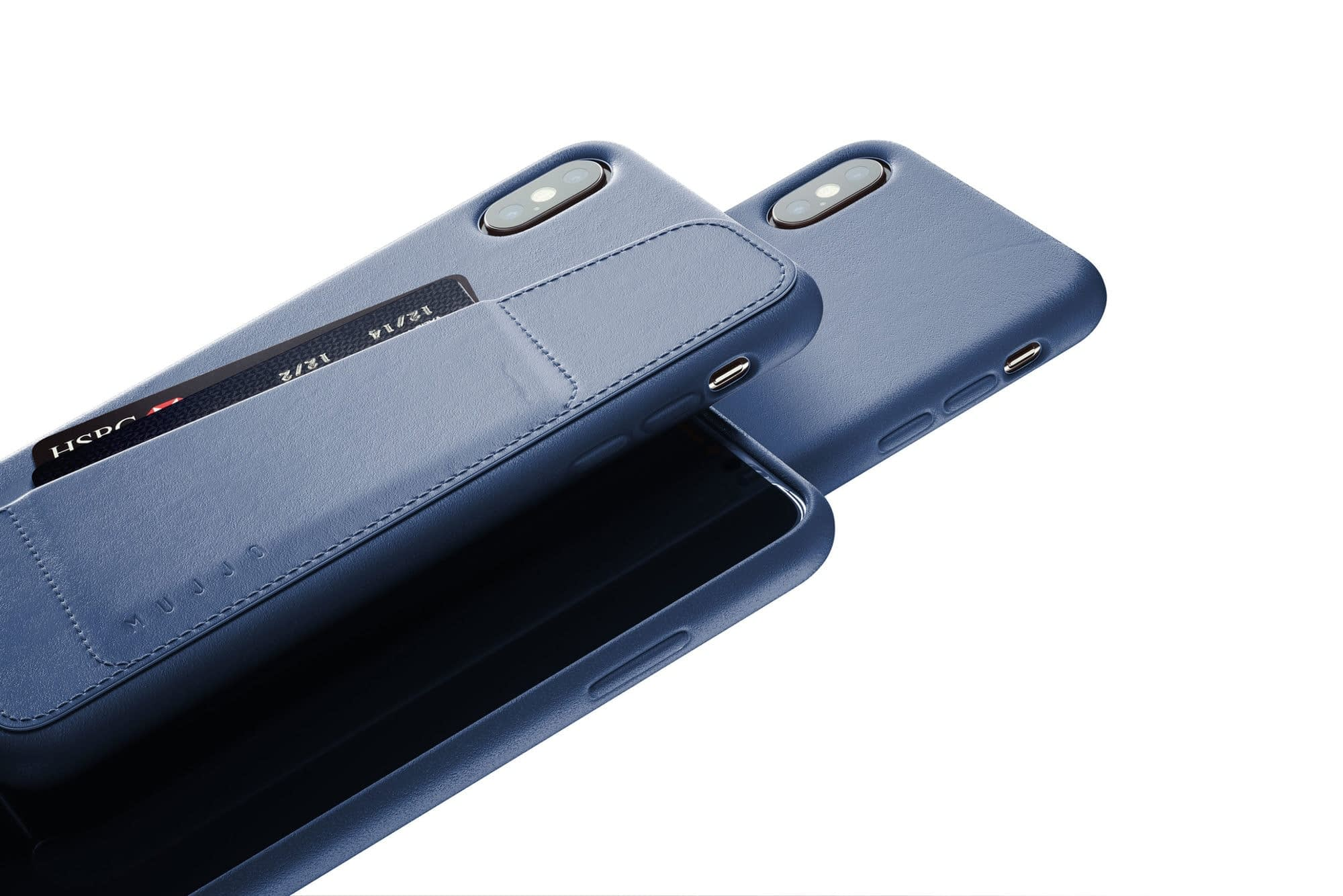 Full leather wallet case for iPhone Xs Max Blue 02