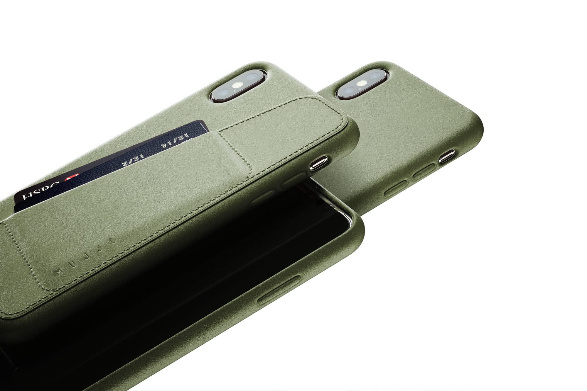 Full leather wallet case for iPhone Xs Max Olive 02 1