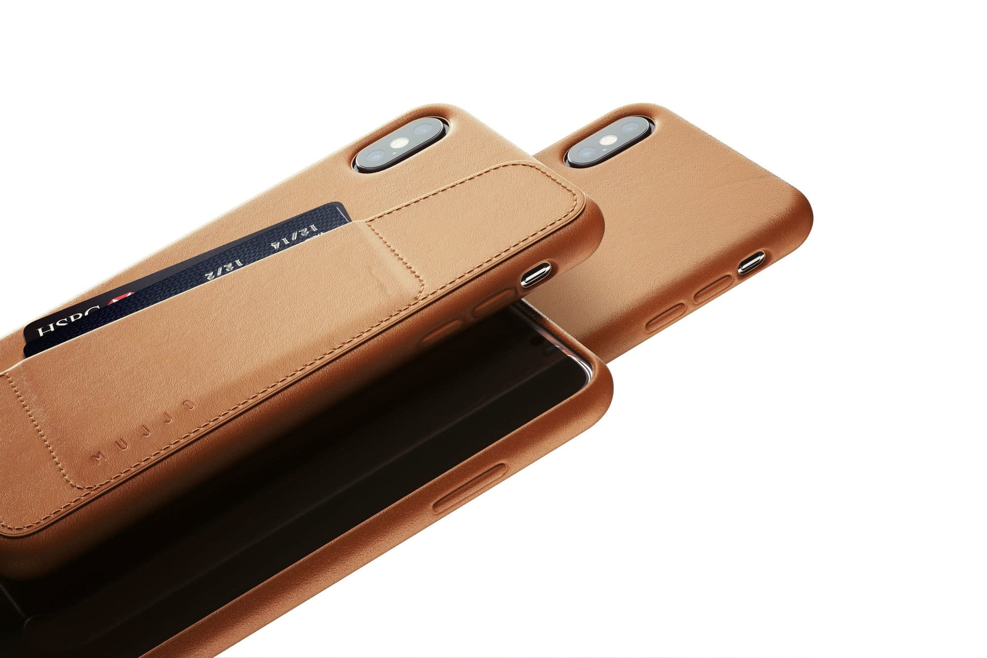 Full leather wallet case for iPhone Xs Max Tan 02