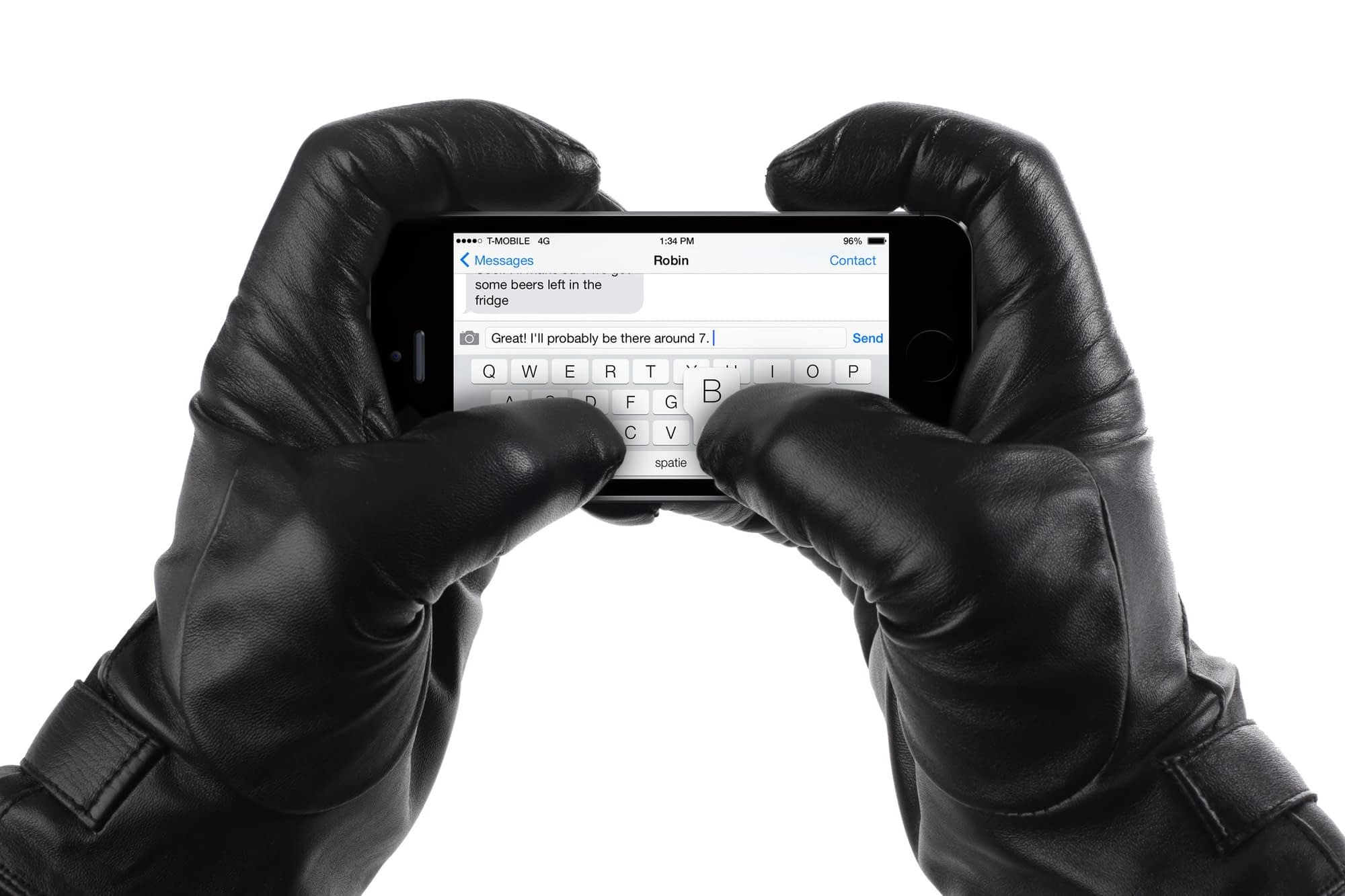 Leather Touchscreen Gloves 005