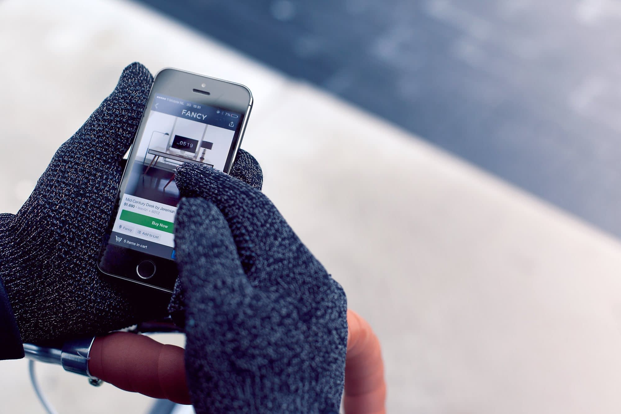 Double Layered Touchscreen Gloves Fixed Gear 004