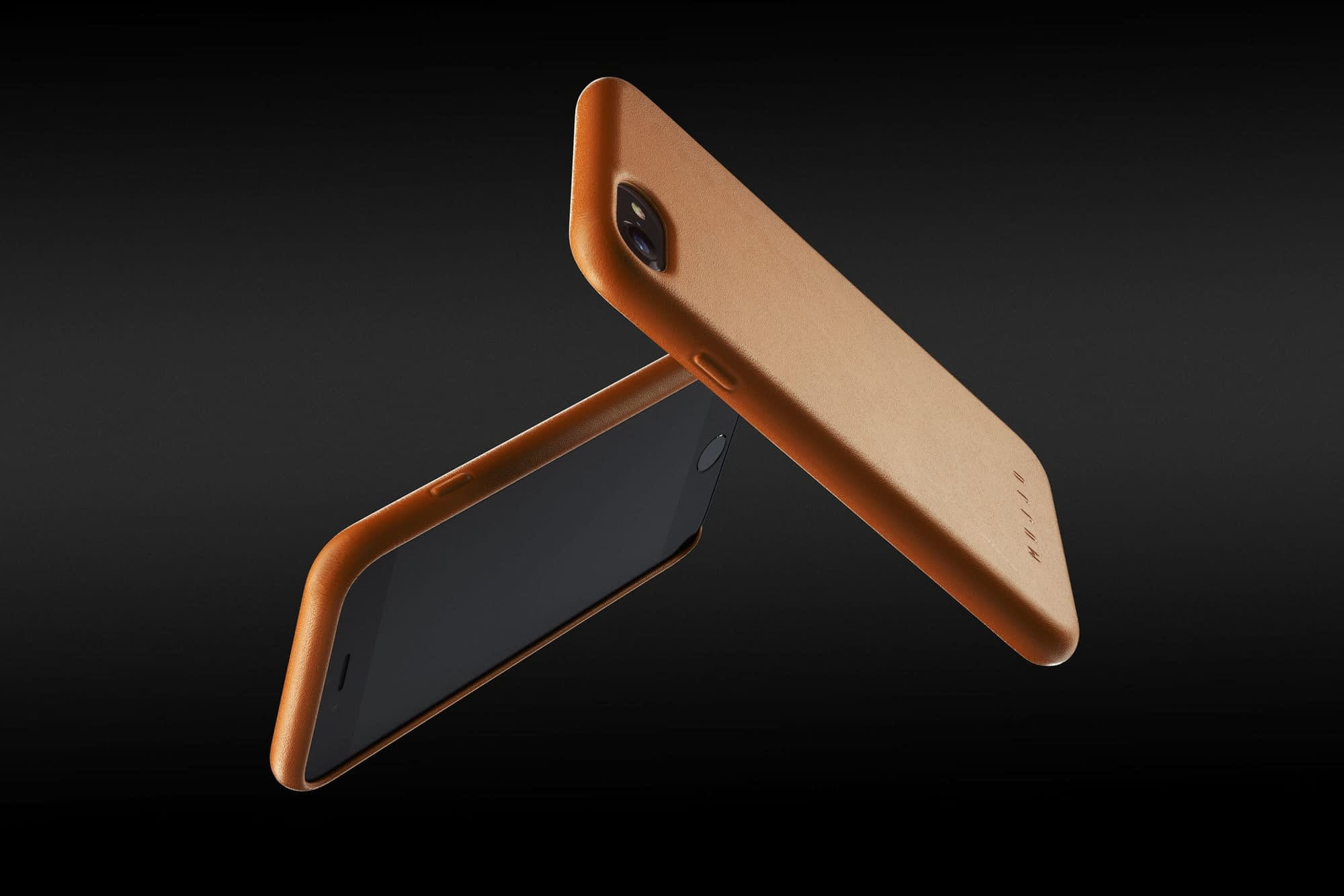 Full leather case for iPhone 8 Tan 03