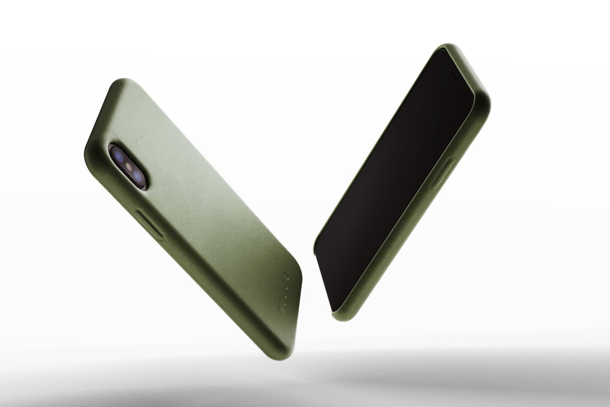 Full leather case for iPhone X Olive 01