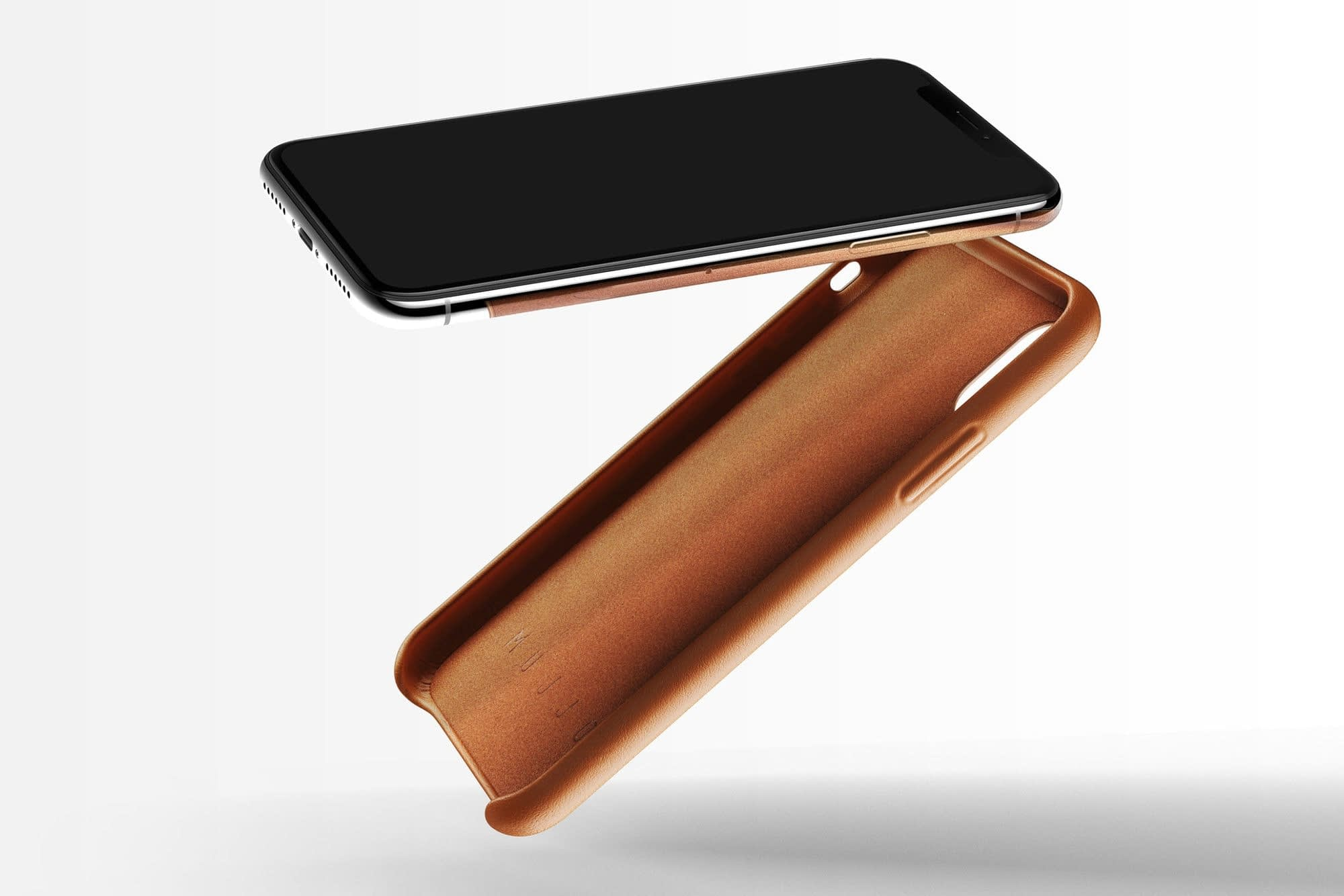 Full leather wallet case for iPhone X Tan 03