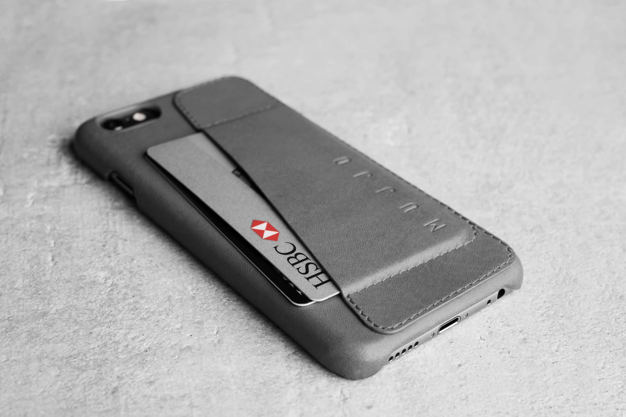 Leather Wallet Case 80° for iPhone 6 Gray Lifestyle 504