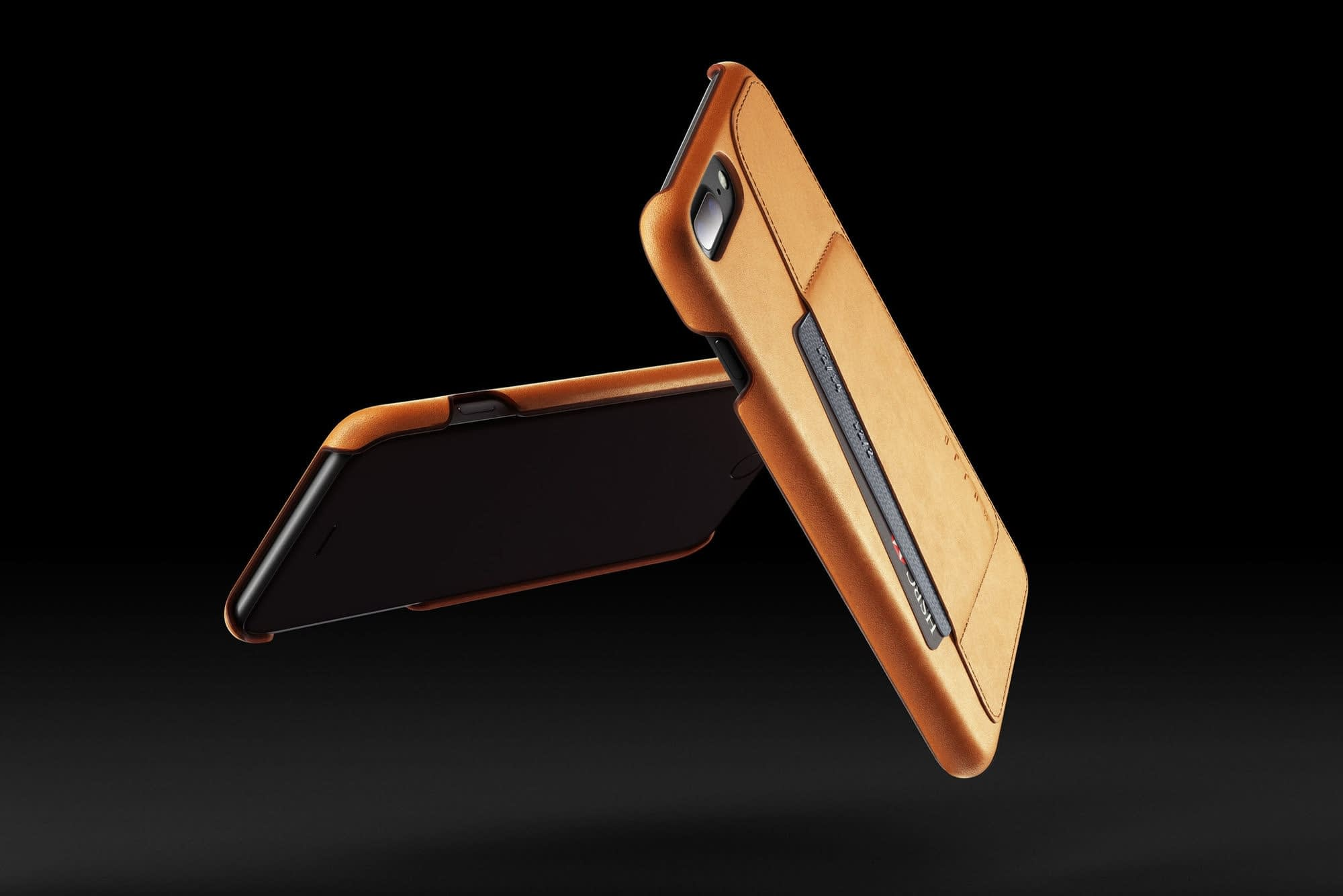 Leather Wallet Case for iPhone 7 Plus Tan 001