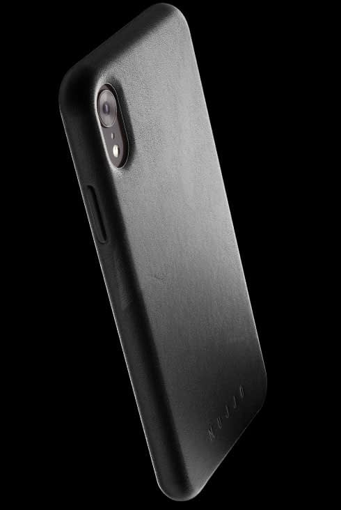 full leather case for iphone Xr black 002