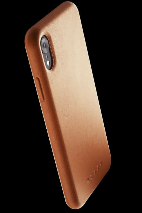 full leather case for iphone Xr tan 002