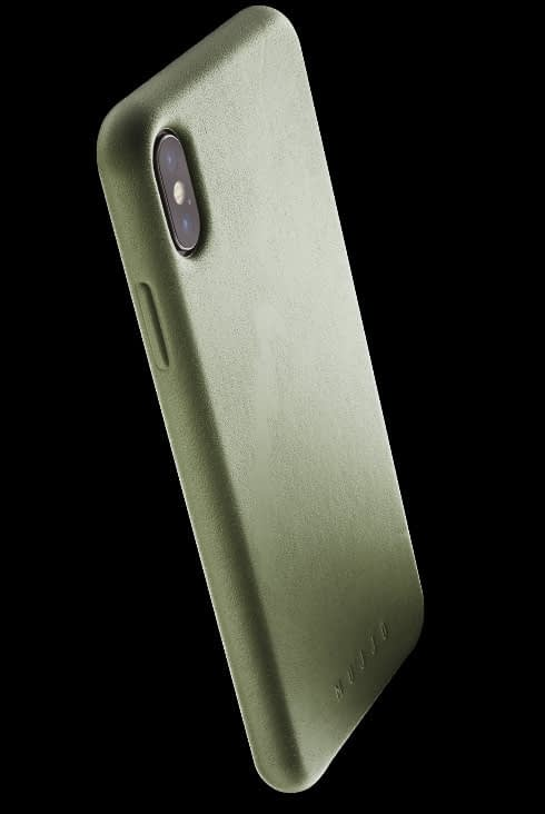 full leather case for iphone Xs Max olive 002