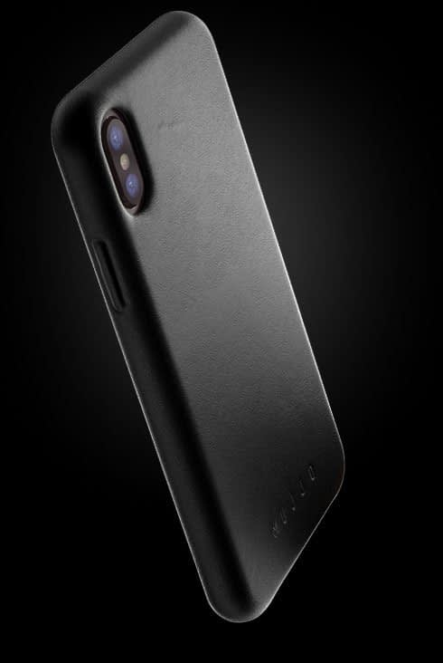 full leather case for iphone Xs black 002