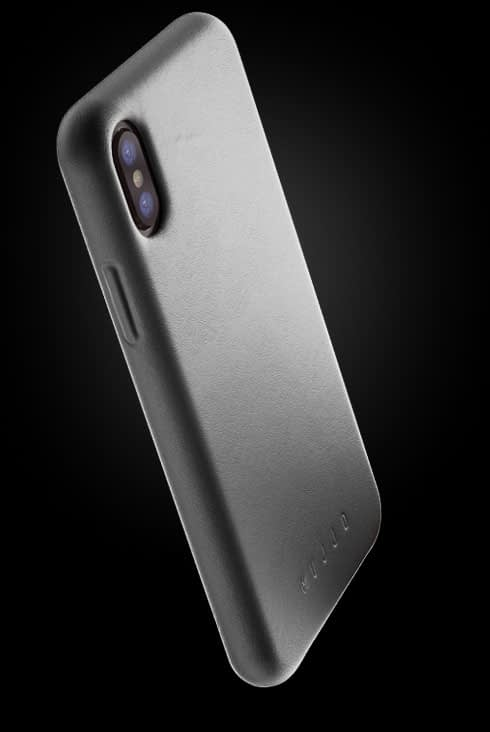 full leather case for iphone Xs gray 002