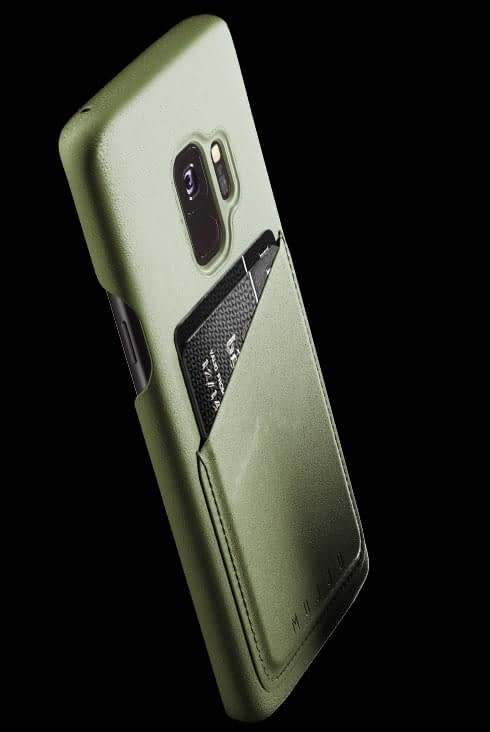 full leather wallet case for galaxy s9 olive 002
