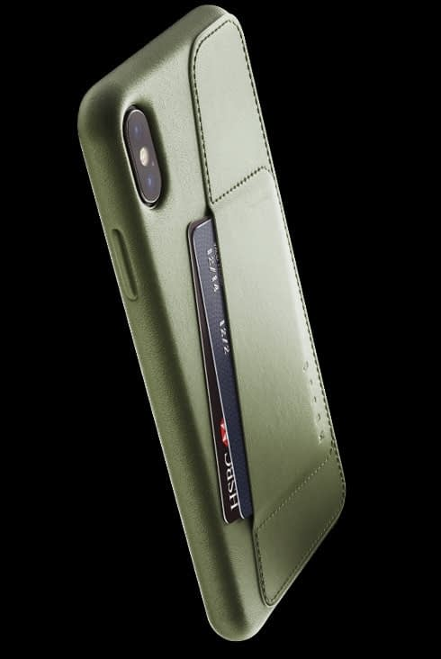 full leather wallet case for iphone Xs Max olive 002