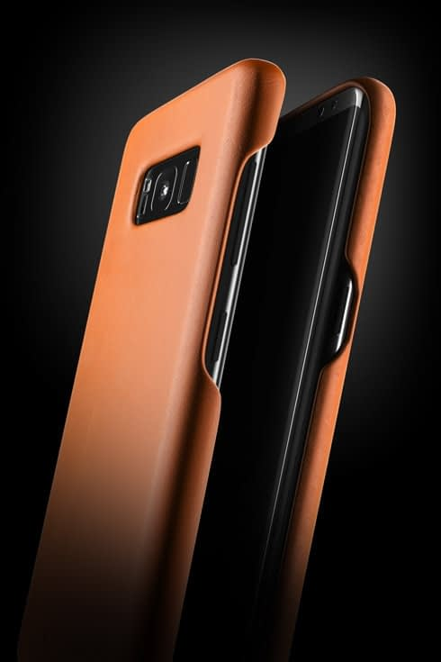 leather case for galaxy S8+ saddle tan 002