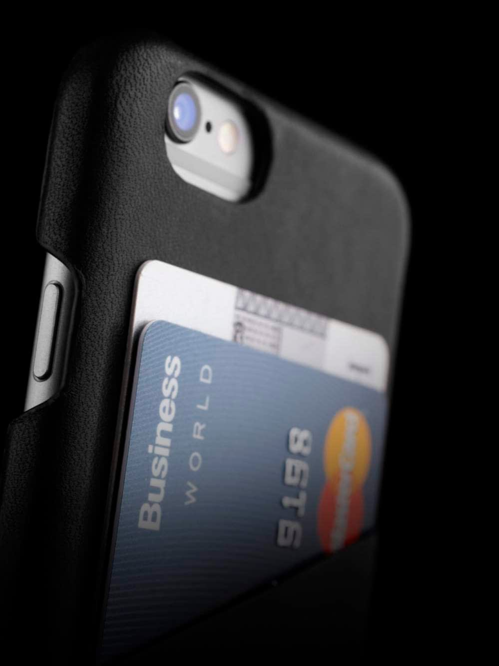 Leather Wallet Case for iPhone 6 Black Lifestyle 004