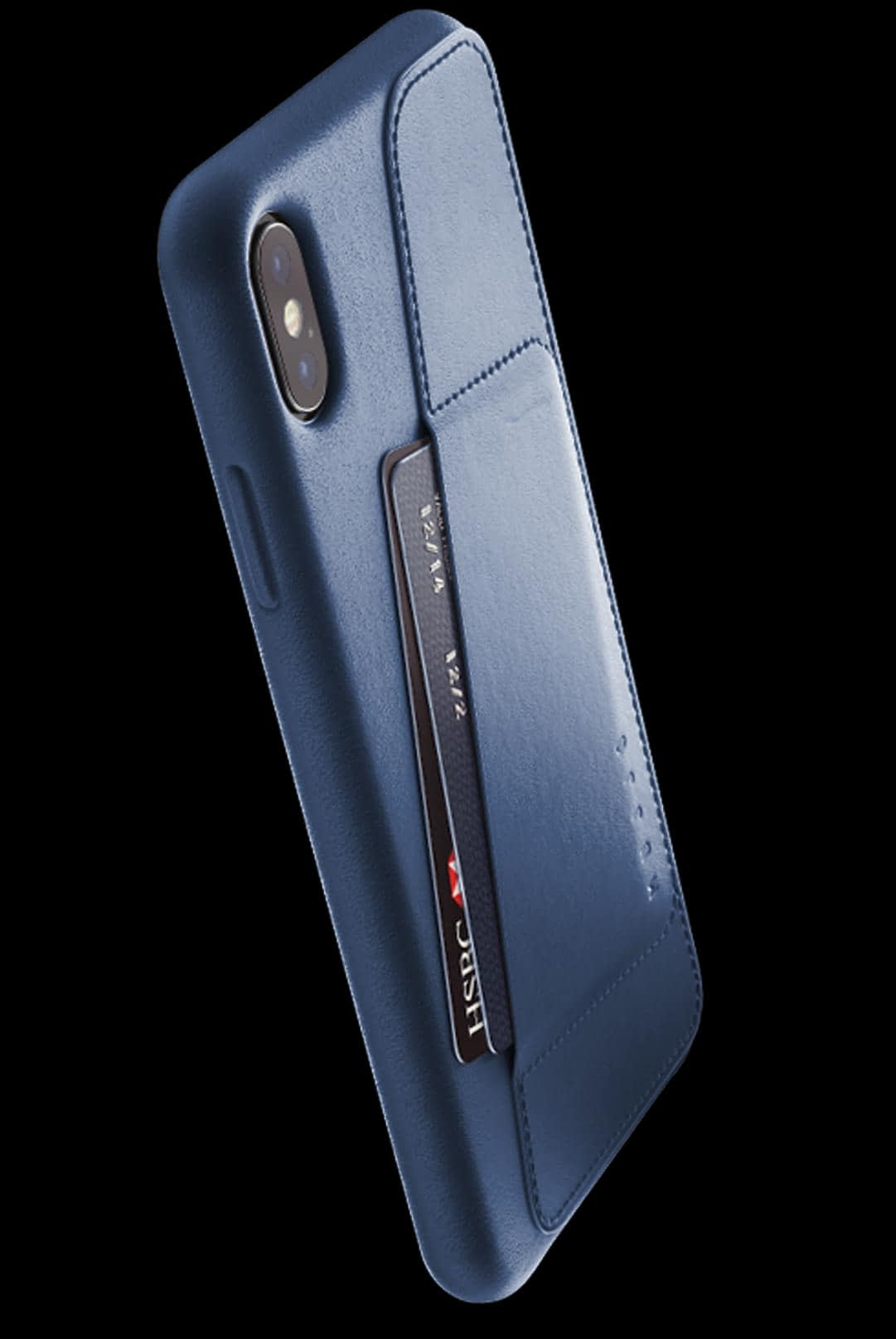 full leather wallet case for iphone Xs Max blue 002