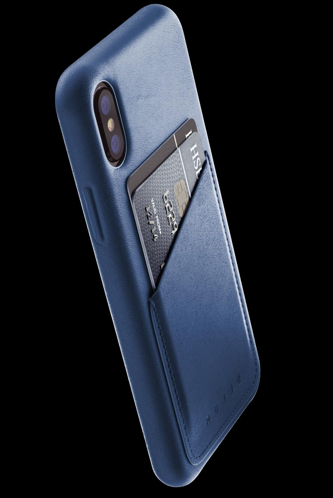 full leather wallet case for iphone Xs blue 002