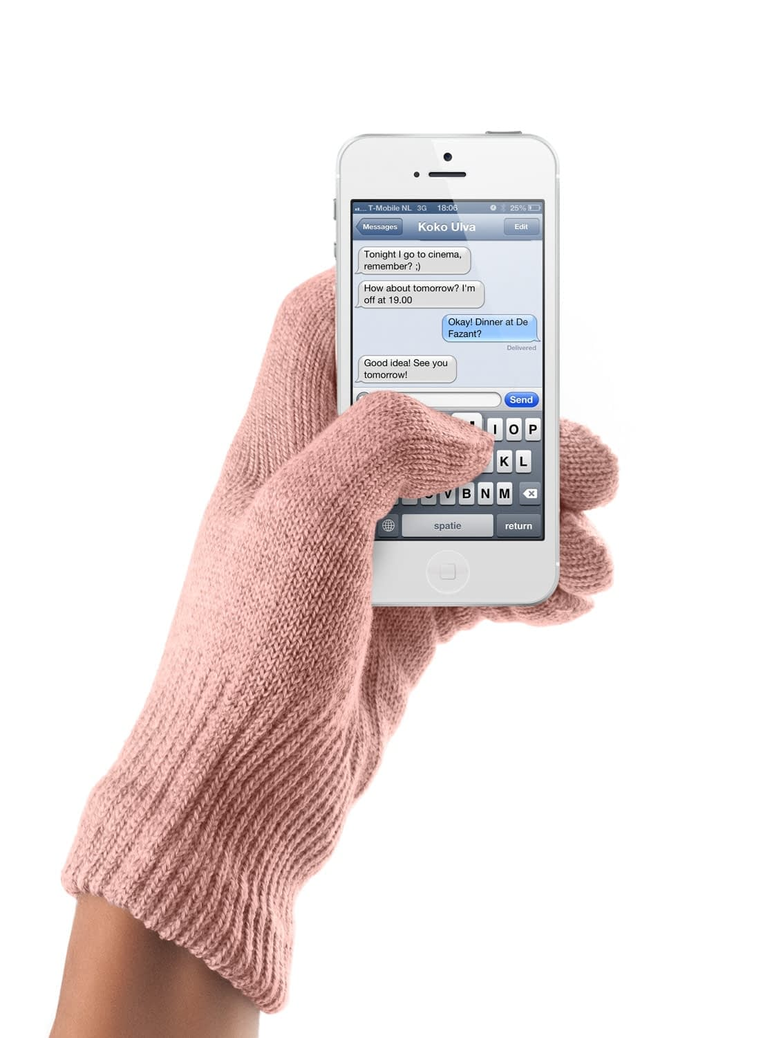 touchscreen gloves coral pink ios 05