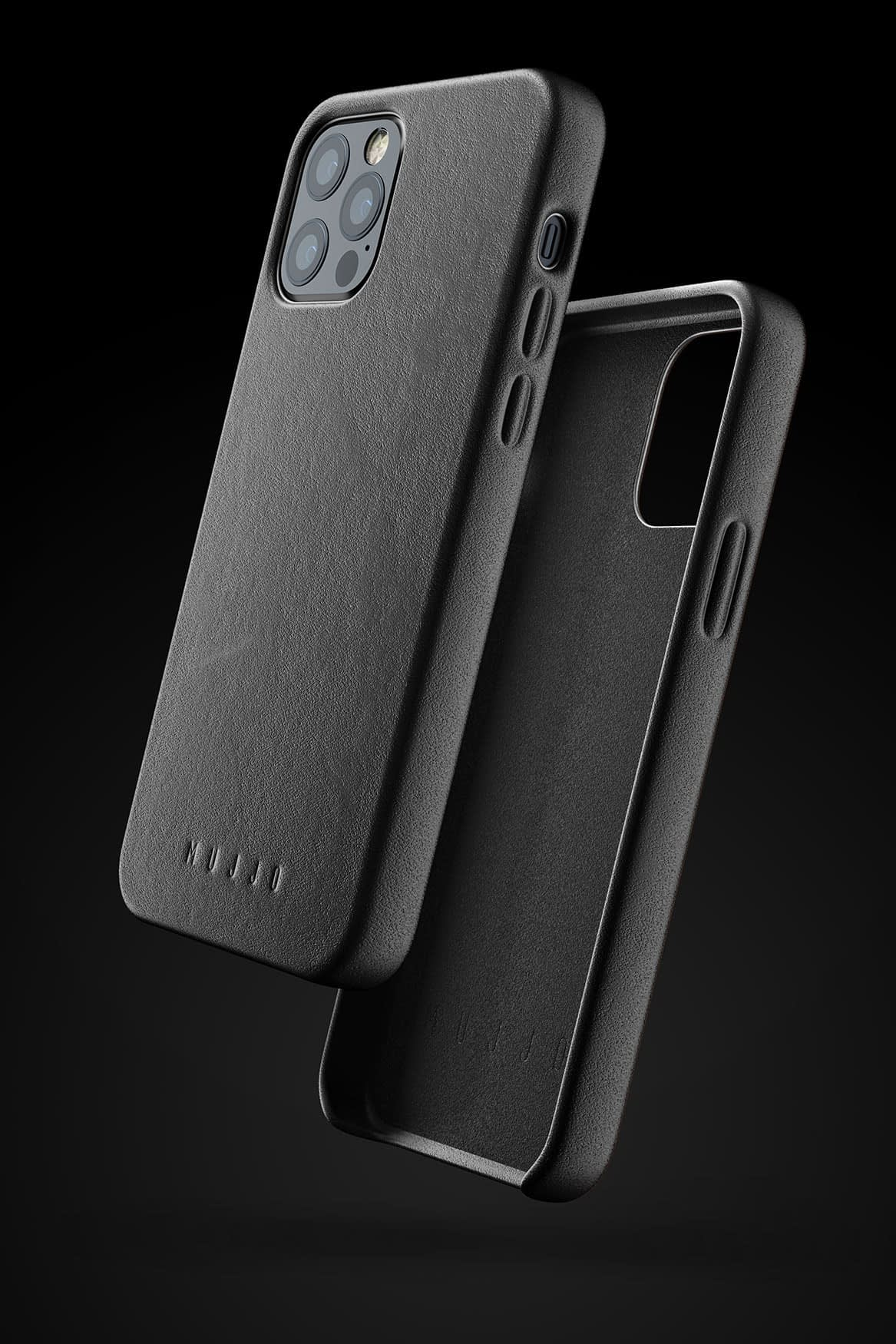 Full Leather Case for iPhone 12 12 Pro Black 01