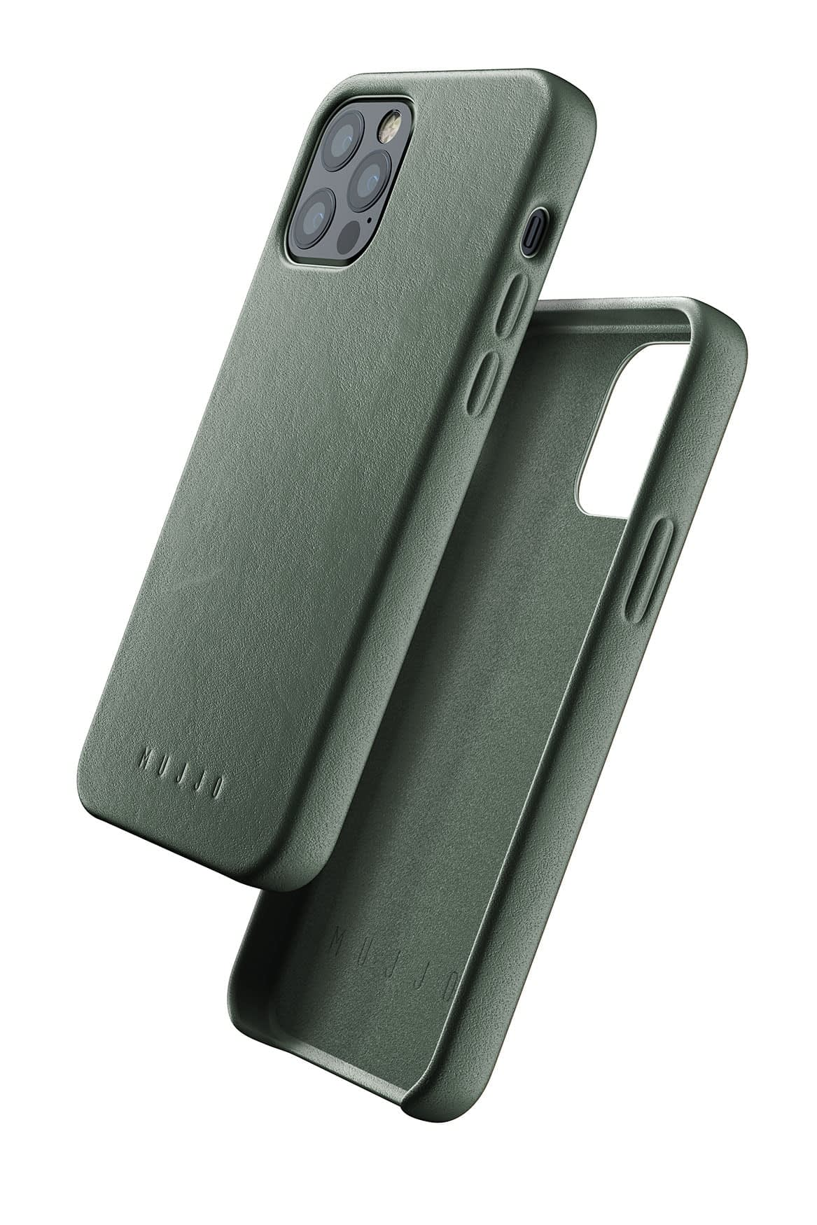 Full Leather Case for iPhone 12 12 Pro Slate Green 01