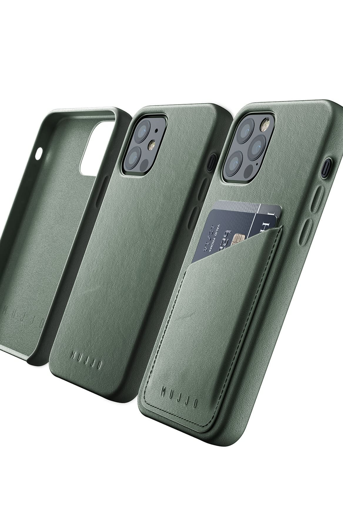 Full Leather Case for iPhone 12 12 Pro Slate Green 08 1