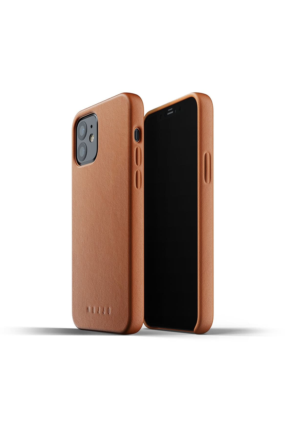 Full Leather Case for iPhone 12 12 Pro Tan Packshot 03