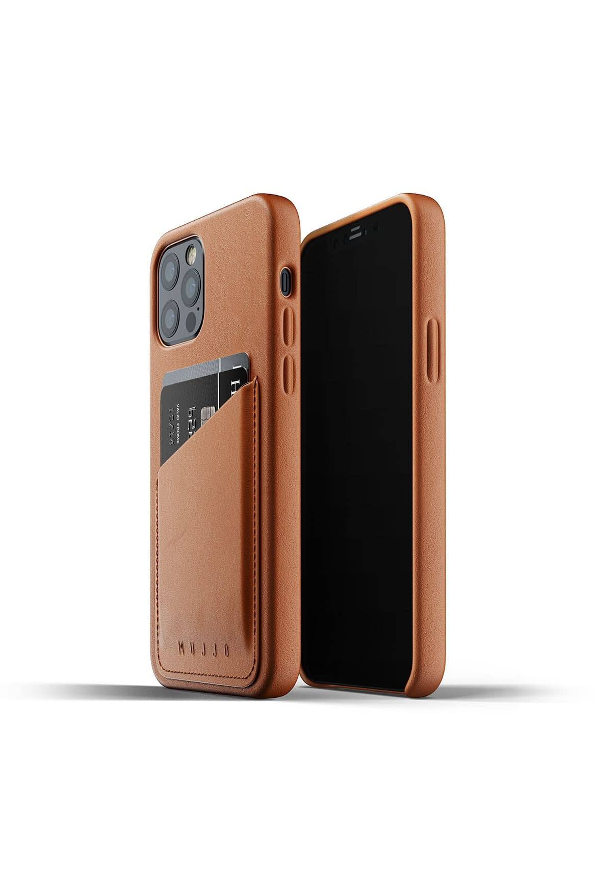Full Leather Wallet Case for iPhone 12 12 Pro Tan Packshot 01
