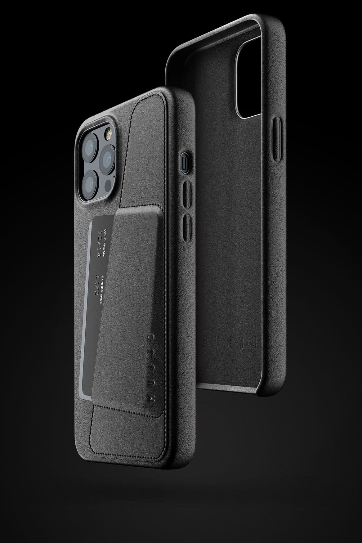 Full Leather Wallet Case for iPhone 12 Pro Max Black 03