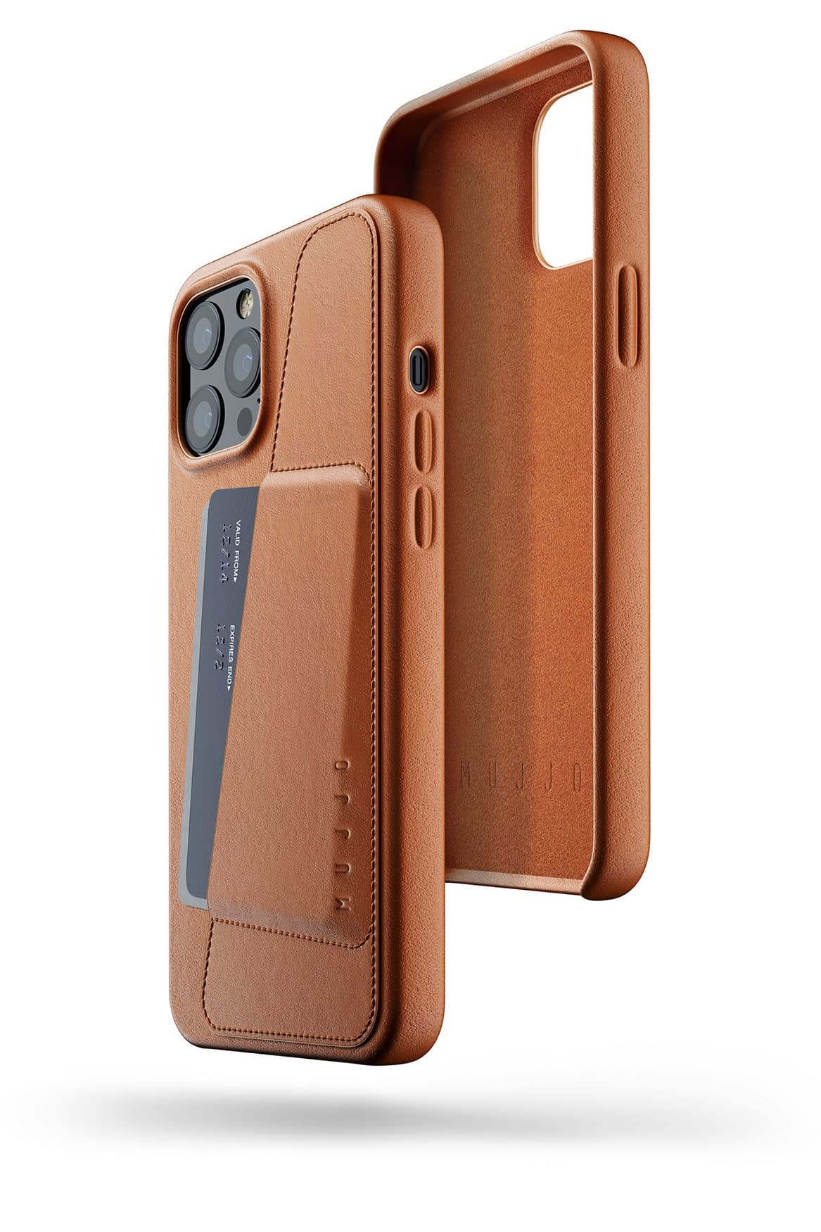 Full Leather Wallet Case for iPhone 12 Pro Max Tan 03